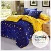 Sweet Kip ชุดเครื่องนอนเกรดพรีเมี่ยม 6 ฟุต ลายกราฟฟิกพระจันทร์ สีน้ำเงิน-เหลือง