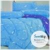 Sweet Kip ชุดเครื่องนอนเกรดพรีเมี่ยม 6 ฟุต ลายกราฟฟิกพระจันทร์ สีฟ้า-น้ำเงิน
