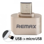ตัวแปลง USB เป็น Micro USB Remax OTG Adapter A-OTG USB (Gold)