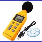 เครื่องวัดความดังเสียง เครื่องวัดเสียง พร้อมซอฟต์แวร์ Compact A/C Weighted Digital Sound Pressure tester Level Meter 40-130dB