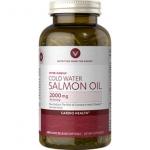 Vitamin World Cold water salmon oil 2,000 ขนาด 240 softgels ผลิตจากปลาทะเลน้ำลึก ปราศจากสารปรอท ไม่ระคายเคืองกระเพาะ ดีมากๆจากอเมริกาค่ะ