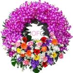 พวงหรีดดอกไม้สด รหัส 5012