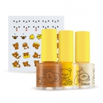 (A'PIEU X RILAKKUMA ) A'PIEU nail color & Deco Sticker Kit (7,500 won) ได้สินค้าตามรูป