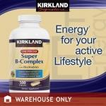 *หมดค่ะ*Kirkland Super B Complex with Electrolytes, 500 Tablets ช่วยคลายเครียดและบำรุงระบบประสาทให้ทำงานอย่างเต็มประสิทธิภาพค่ะ