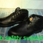 รองเท้าเซฟตี้ หุ้มข้อ หนังแท้ ผิวอัดลาย พื้น NBR NS002E
