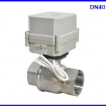 มอเตอร์วาล์วไฟฟ้า เปิดปิดวาล์วไฟฟ้า มอเตอร์วาล์วขนาด 1.5 นิ้ว Motorized Valve DN40 1 1/2'' SS304 full port actuator ball valve DC 9-24V 2 way, 2 wires CR202 (สั่งซื้อ 2 weeks)