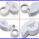 กล้องส่องพระ (ระดับเซียนพระ) กล้องส่องจิวเวอร์รี่ พร้อมไฟLED ขยาย40 x 25mm LED Loop Magnifying Magnifier Loupe Jewelry Detect Jeweler Eye Loupe