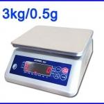 เครื่องชั่งกันน้ำ ตาชั่งกันน้ำ โครงพลาสติก ถาดสแตนเลส 3Kg ความละเอียด0.5g Waterproof Digital Scale New 3Kg/0.5G