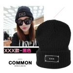หมวกบีนนี่ หมวก Beanie hat ลาย XXX สีดำ