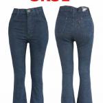 กางเกงยีนส์เอวสูงขาม้า สีกรมดำ ใส่เข้าทรงสวยเพรียว มี SIZE S,M,L,XL