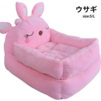 เบาะนอนกระต่ายน้อย สีชมพู