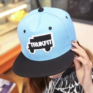 หมวกฮิปฮอป หมวก Hiphop ลาย Trukfit สีฟ้า