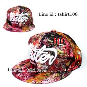 หมวกฮิปฮอป Hiphop Mister ลายกราฟฟิคสีแดง