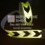 สติ๊กเกอร์สะท้อนแสง ลายรังผึ้งลูกศรเว้นขอบ สีเขียวนีออนดำ ขนาด 2 นิ้ว thumbnail 2