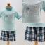 ชุดเสื้อลายซัมเมอร์+กางเกงลายสก๊อต thumbnail 1