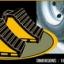 ยางห้ามล้อ ยางหนุนล้อ รถบรรทุก สีเหลืองดำ thumbnail 3