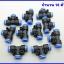 (1 ชิ้น) ขั้วต่อลม ข้อต่อลม ฟิตติ้ง Pneumatic 06mm to 06mm Push In Tee Quick Fittings thumbnail 3