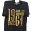 เสื้อยืดสีดำ-ทอง1964 Size L thumbnail 1