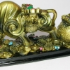 วัวมงคลลากถุงใส่เหรียญทอง ราชาเเห่งความอุดมสมบูรณ์