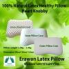 หมอนยางพาราเอราวัณ รุ่นฮาร์ท น็อบบี้ (Erawan 100% Natural Latex Pillow: Heart Knobby) พร้อมปลอกผ้า2ชั้น มีซิป