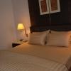 ชุดผ้าปูที่นอนโรงแรมลายริ้ว 3.5 ฟุต (5 ชิ้น) สีน้ำตาลทอง