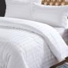 ผ้าปูที่นอนไม่รัดมุม สีขาวลายริ้ว 70*110 นิ้ว