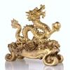 มังกรทองมงคลล้อดอกโบตั๊นจีน