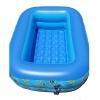สระน้ำเด็กเป่าลม ขนาดเล็ก 120 cm ขอบ 2 ชั้น สีฟ้า แถมฟรี ห่วงยางคอเด็ก