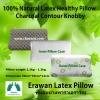 หมอนยางพาราเอราวัณ รุ่นชาร์โคล คอนทัวร์ น็อบบี้ (Erawan 100% Natural Latex Pillow: Charcoal Contour Knobby) พร้อมปลอกผ้า2ชั้น มีซิป