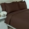 ชุดผ้าปูที่นอนโรงแรมลายริ้ว 6 ฟุต (5 ชิ้น) สีช็อคโกแลต