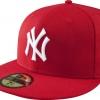 หมวกNew Era New NY Scarlet with White 59FIFTY (Size 7 1/2 59.6cm)
