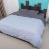 ชุดผ้าปูที่นอนสีพื้น 5 ฟุต+นวมเย็บติด ( 5 ชิ้น)