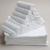 """( 5 โหล) ผ้าขนหนูเช็ดหน้าขายส่ง ไซร์ 12""""x12"""" สีขาว"""