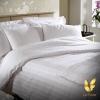 ชุดผ้าปูที่นอนโรงแรมสีขาวลายริ้ว 3.5 ฟุต (3 ชิ้น)