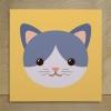 กรอบลอยผ้าแคนวาส การ์ตูนแมว
