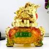 เซียมซู้มงคล(กบคาบเหรียญ)บนกระถางทอง นำโชค คาบเงินคาบทอง อวยพรโชคลาภ