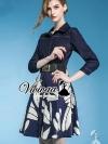 Bluely flora skirt denim dress ด้านบนตัวเสื้อเนื้อผ้ายีนส์กระโปรงเนื้อผ้าโพลีเอสเตอร์พิมพ์ลาย Detail : เก๋ๆ ด้วยทรงเดรสเชิ้ต ชายกระโปรงทรงบาน ทรงเก๋มากคะ เติมความสวยด้วยงานพิมพ์ลายที่กระโปรงเป็นลายกลีบดอกไม้ เติมความเก๋ด้วยเข็มขัดเส้นใหญ่ งานสวยเก๋มากคะ