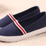 รองเท้าลำลองสีน้ำเงิน ส่งฟรีEMS พร้อมส่ง