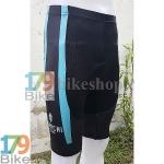 กางเกงปั่นจักรยานขาสั้น Bianchi สีดำเขียว