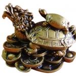 เต่าหัวมังกรบนก้อนทอง พลังแห่งความกล้าหาญปรีชาสามารถ
