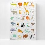 กรอบลอยแคนวาส Animal alphabet 16 x 24 นิ้ว แนวตั้ง