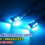 ไฟหรี่สีไอซ์บลู LED-T10-5730-10SMD-หัวเลนส์