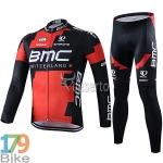 ชุดจักรยานแขนยาว BMC 2016 แดงดำ