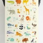 กรอบลอยแคนวาส Animal alphabet 24 x 36 นิ้ว แนวตั้ง
