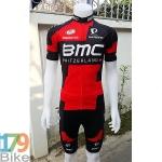 ชุดจักรยานแขนสั้น BMC 2016 แดงดำ