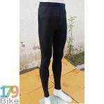 กางเกงปั่นจักรยานขายาว สีดำล้วน