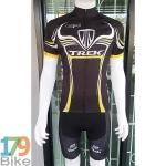 ชุดจักรยานแขนสั้น Terk 2016 ดำเทาเหลือง