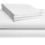 ชุดผ้าปูที่นอนโรงแรมสีขาวเรียบ รัดมุม ขนาด 5 ฟุต (5 ชิ้น)