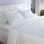 ชุดผ้าปูที่นอนโรงแรมสีขาวเรียบ รัดมุม ขนาด 6 ฟุต( 5 ชิ้น)