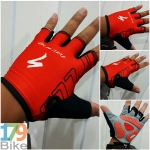 ถุงมือโปรทีม Specialized แดงดำ